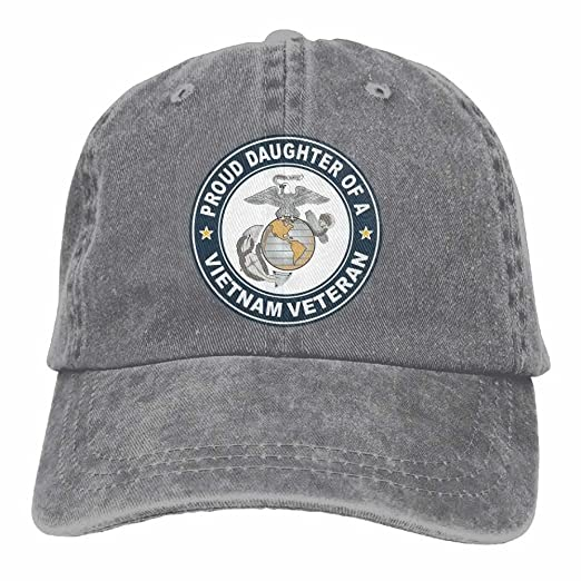 b79f1eac747 U.S. Marine Corps Proud Daughter of A Vietnam Veteran Dad Hat Adjustable  Denim Hat Classic Baseball