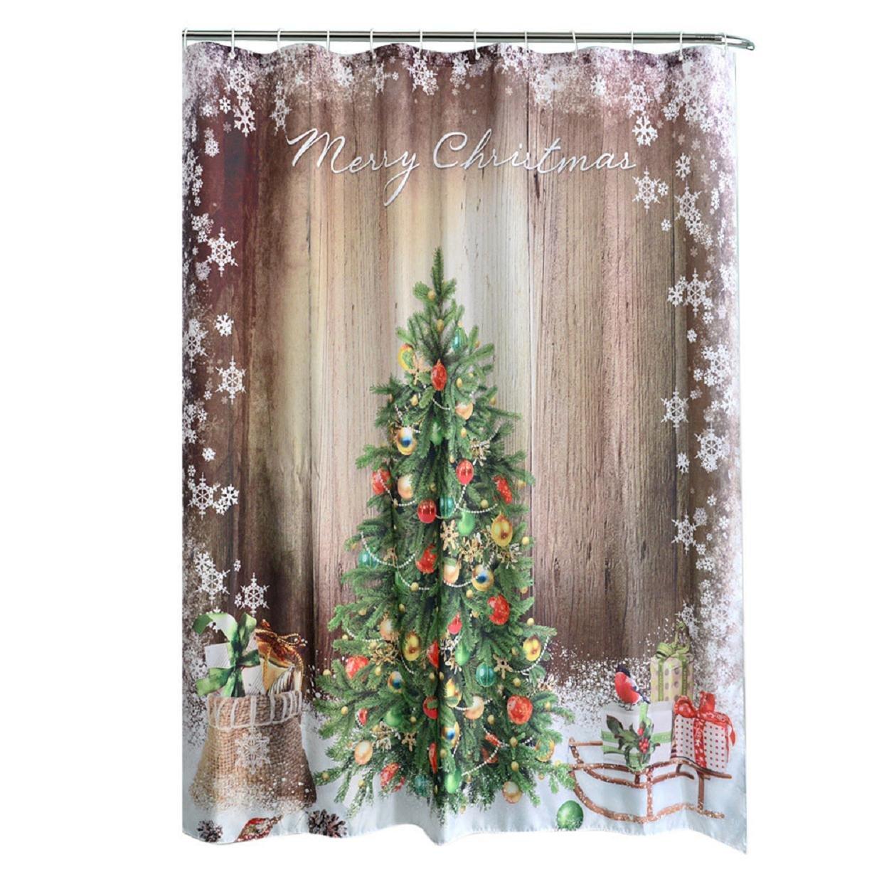 Badezimmer Duschvorhang, Yogogo Weihnachten Kinder Wasserdichte ...