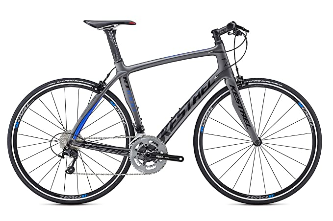 6c673196b6 Amazon.com : Kestrel RT-1000 Flat Bar Shimano 105 Bicycle, Satin Gray/Blue,  62cm/XX-Large : Sports & Outdoors