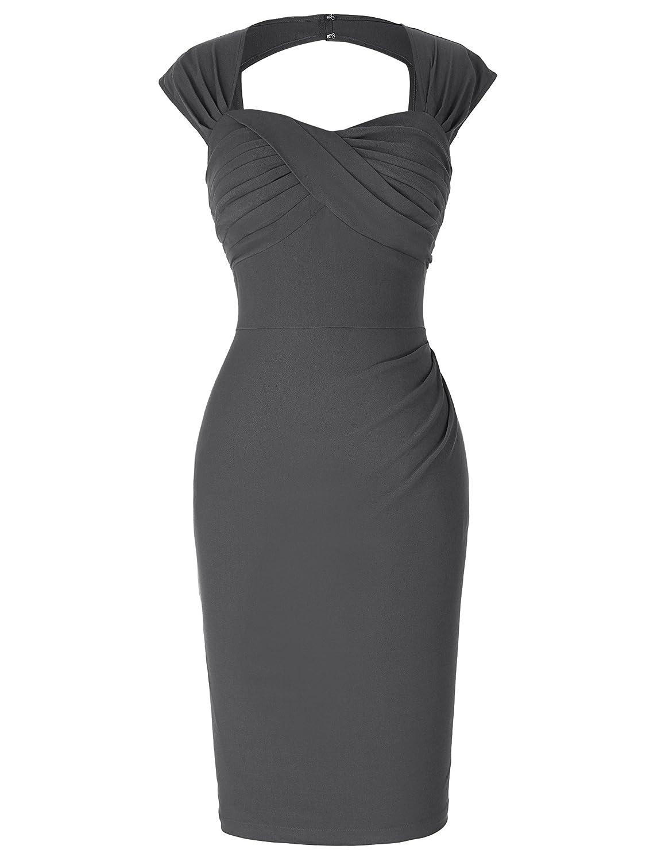 Yafex Belle Poque 14er Style Vintage Kleid Elegant Etuikleid