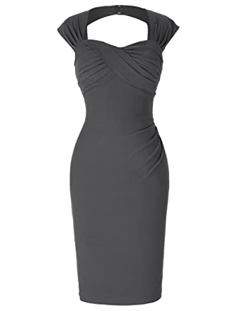 Belle Poque 1950er Style Vintage Kleid Elegant Etuikleid Knielang ...