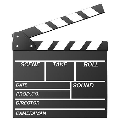 ciak cinematografico  Neewer 12''X11''/30Cmx27Cm Ciak In Legno Ciac Cinematografico Per ...