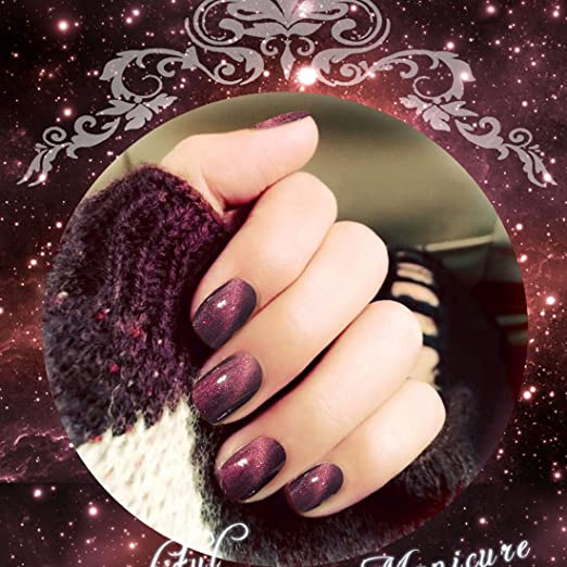 Cloudsemi Uñas postizas con Efecto de Brillo Suave, uñas ...