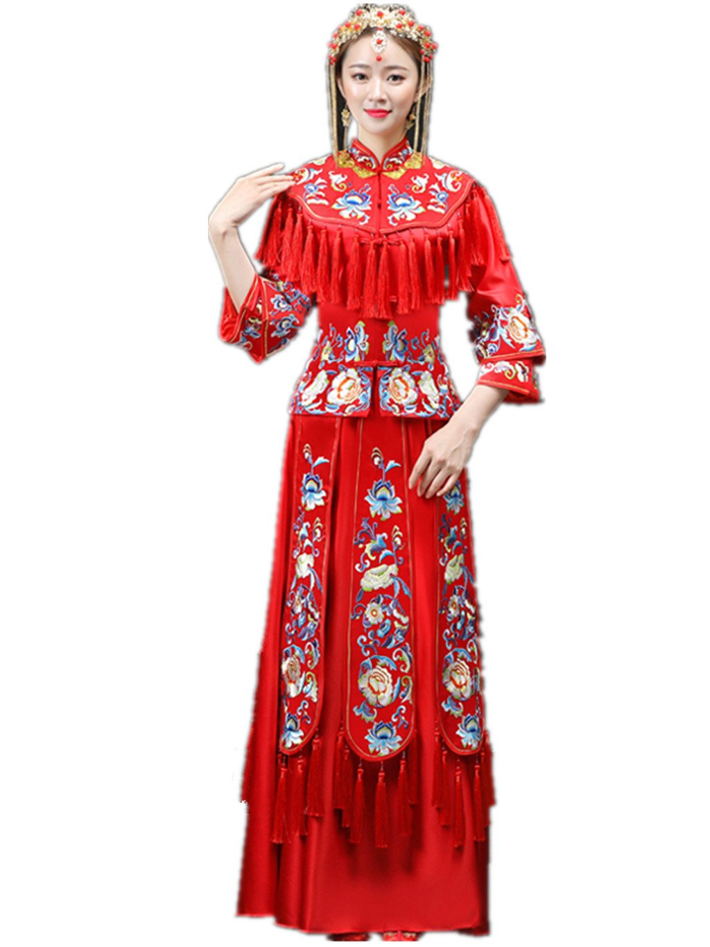 Embroideries Show Wo Dress Chinese Wedding Dress Wedding Cheongsam Tang Suits