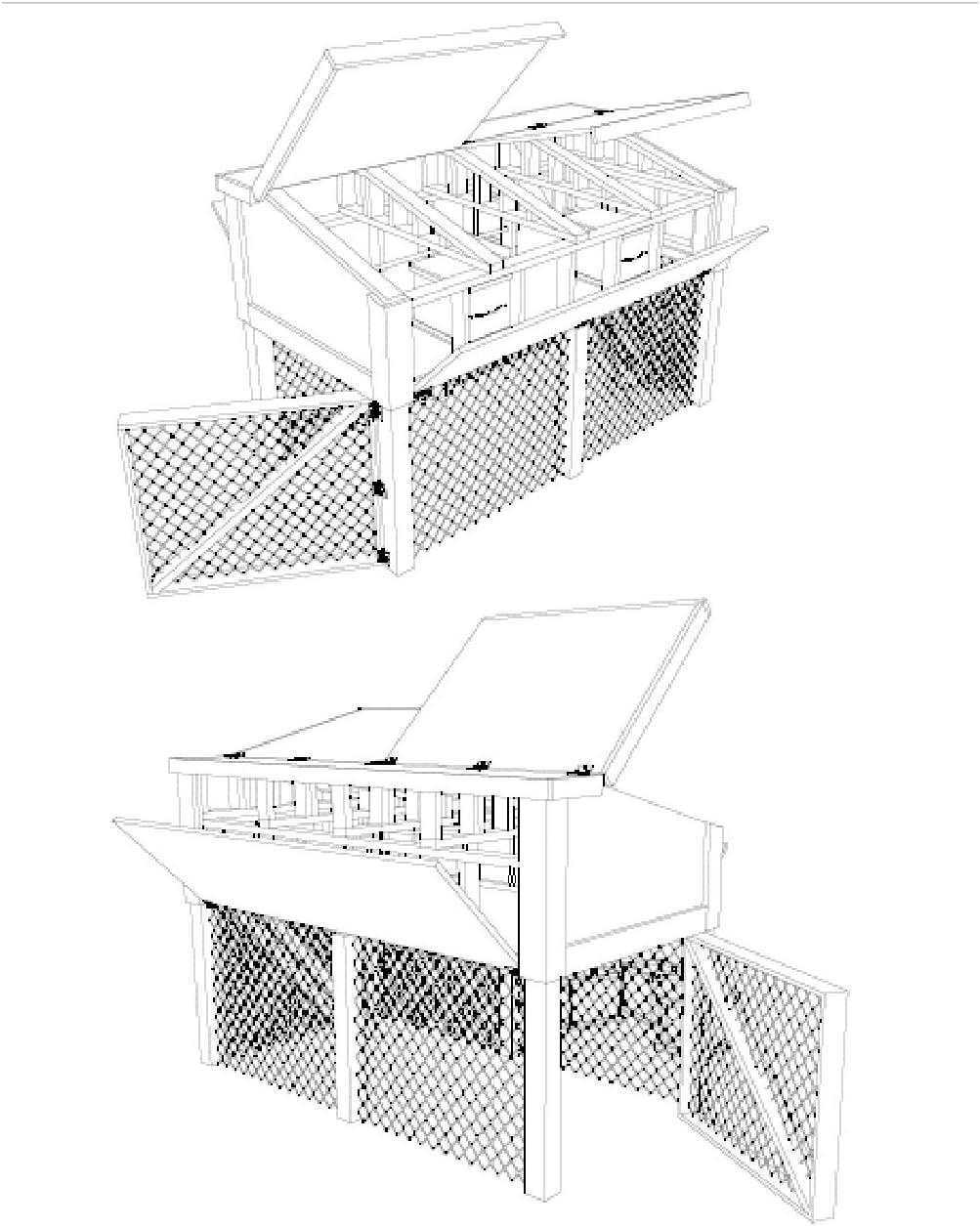 The Best DIY Plans Store Planes de gallinero portátil con caseta para Hacer tu Propia Granja: Amazon.es: Jardín