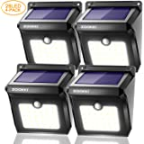 ZOOKKI Solar Lights Outdoor 28 LED, Super Bright Motion Sensor Wall Lights Outside Solar Powered Security Lights Wireless Waterproof Lighting for Patio Yard Deck Stairway Driveway 4 Pack