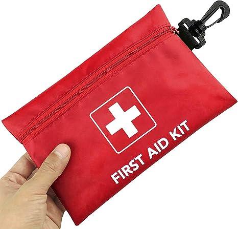 Risen Mini Botiquín de Primeros Auxilios, 100 Piezas Compactas Impermeables Pequeñas Kit de Supervivencia de Emergencia Médica, Coche, Viaje, Hogar, Lugar de Trabajo Y Al Aire Libre: Amazon.es: Deportes y aire libre