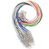 Amazon Price History for:20 Colours 100 PCS 1.5mm Waxed Necklace Cord Bulk with Lobster Clasp for DIY Jewelry Making