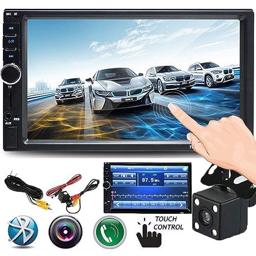 Cavogin Doble DIN Car Stereo, Pantalla táctil de 7 Pulgadas para Radio de Coche MP3/MP5/FM Reproductor soporta Bluetooth/USB/TF con Mando a Distancia: ...