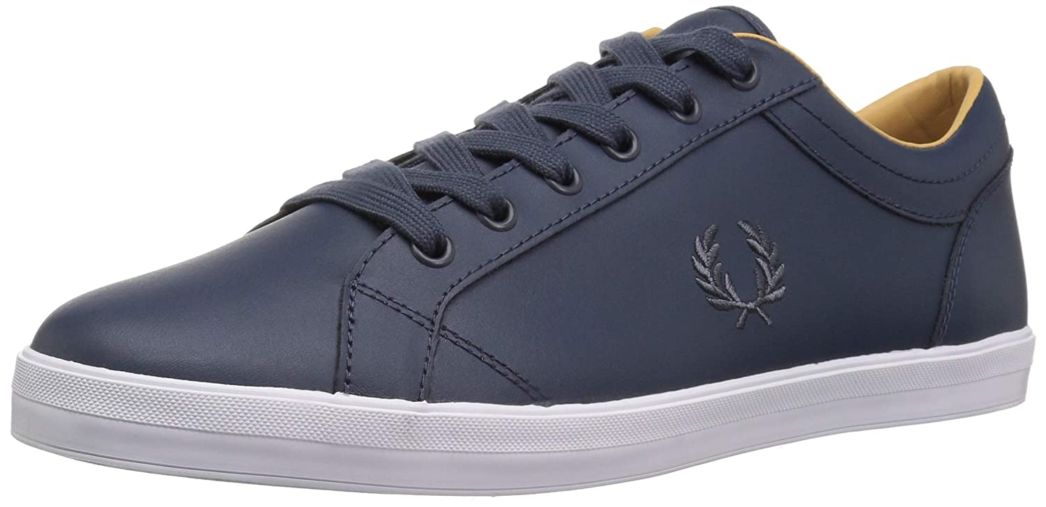 Frot Perry Mens Baseline Leather Blau Turnschuhe Low