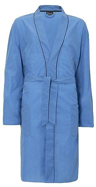 Hombre Liso Tejido Verano Algodón Poliéster Kimono Tiras Bata: Amazon.es: Ropa y accesorios