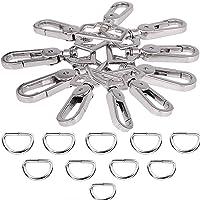 JAKAGO 20 stks 1 inch D-ringen en metalen Swivel Trigger Snap Haken Clips Gespen Sluiting voor DIY Hardware Handtas…