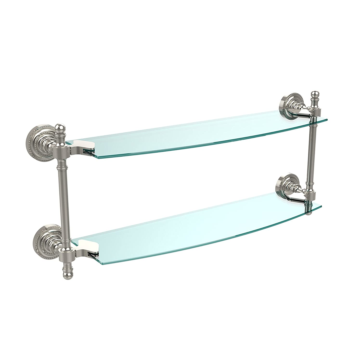 Allied Brass RD-34/18-SN 18 x 5 Double Glass Shelf Antique Copper by Allied Brass B002CQ5JYC  光沢ニッケル 18 Inch