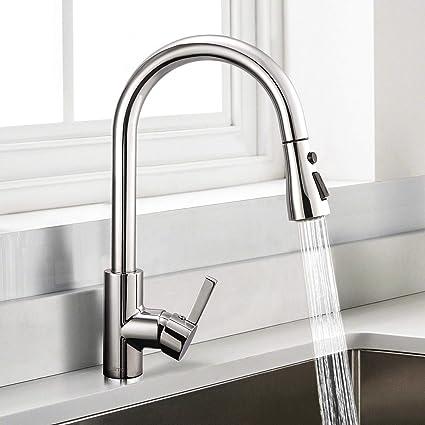 robinet de cuisine dalmo robinet d evier a arc eleve avec douchette extensible mitigeur evier rotatif a 360 avec 3 modes de pulverisation mitigeur