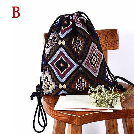 ALIKEEY Moda Mujer Bohemia Impresion Alta Capacidad Bucket Bag Mochila Bolsa De Hombro Una Cartera Rebajas Pepe Mini Coofit Bolsa: Amazon.es: Equipaje