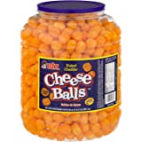 Utz Cheese Balls – 35 Ounce Barrel (2 lbs) – Made with Real Cheese, Resealable Container, Gluten Free, Easy and Quick Party Snack