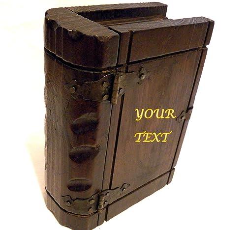 Caja Libro Grabada con Texto, Regalos Hombres, Joyero Hombre ...