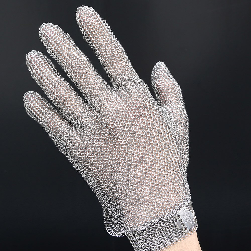 Anself Stainless Steel Mesh Knife Cut Resistant Chain Mail Protective Glove for Kitchen Butcher Working Safety (M) by Anself (Image #6)