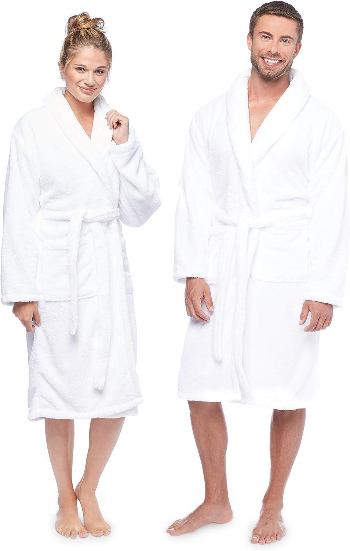Terry Bathrobes Cotton Unisex,Men,Women,Lightweight,Side Pocket,Soft,Absorbent