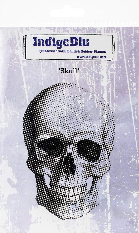 IndigoBlu Cling Mounted Stamp 5X8-Skull