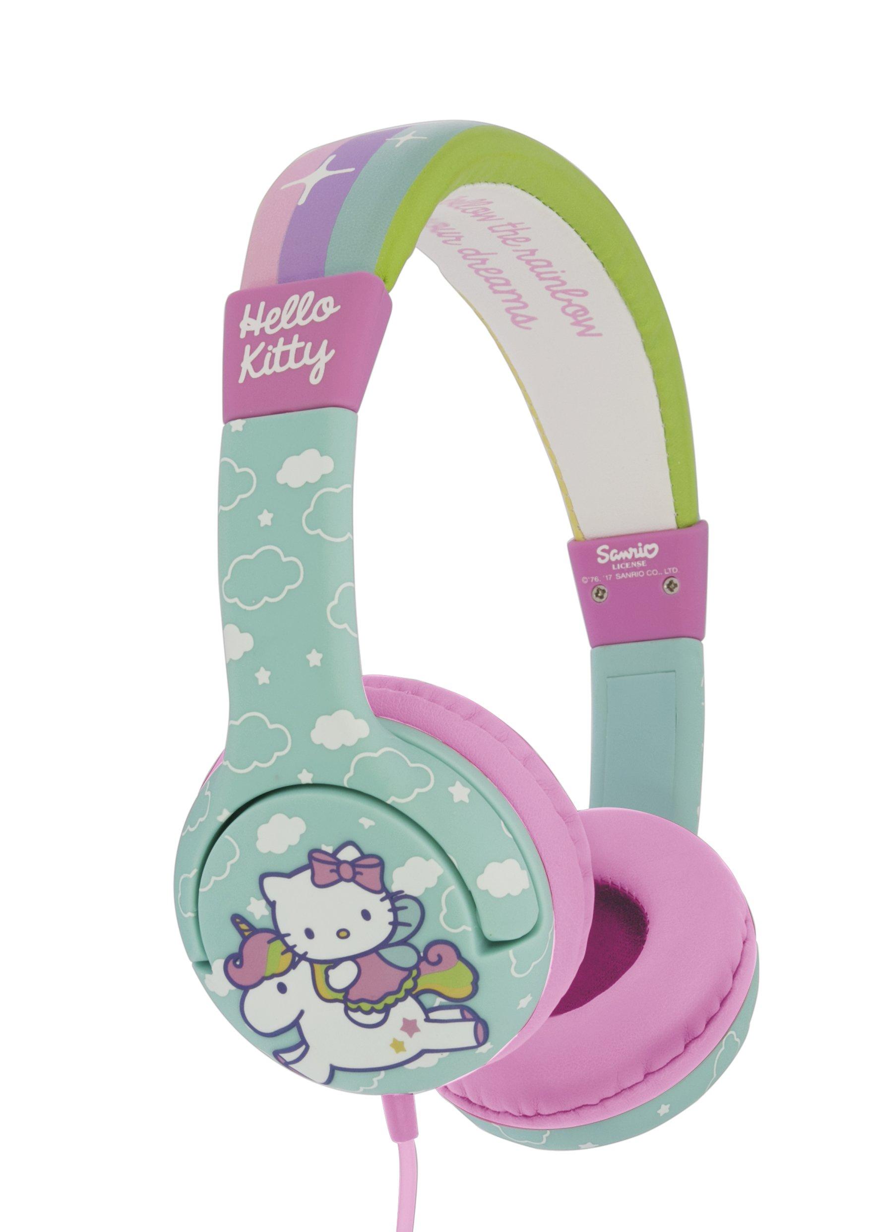 Hello Kitty Unicorn Children's Headphones - Rainbow