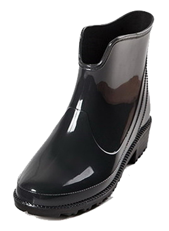 AgeeMi Shoes Femme Flat Couleur AgeeMi Unie Caoutchouc Flat Bottes Imperméables Couleur Noir 92912c8 - conorscully.space