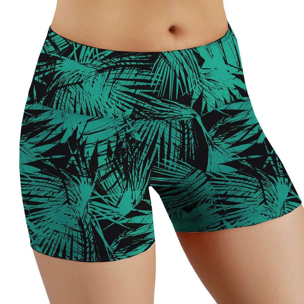 Green Large Yoga Pants, Ladies, Prints, Sports, Tight Pants, Fitness Pants, Stretch, Slim, Plus Size Shorts