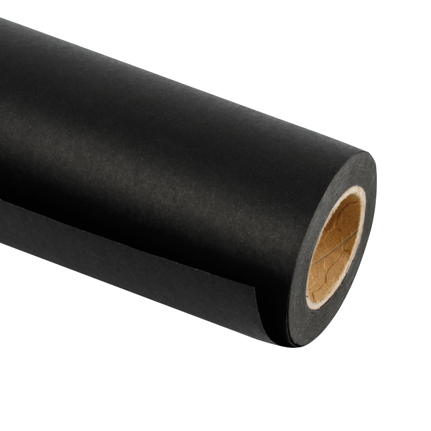 RUSPEPA Black Kraft Paper Roll - 24 inch x 100 Feet - Recycled Paper Perfect for for Crafts, Art, Gift Wrapping, Packing, Postal, Shipping, Dunnage & Parcel