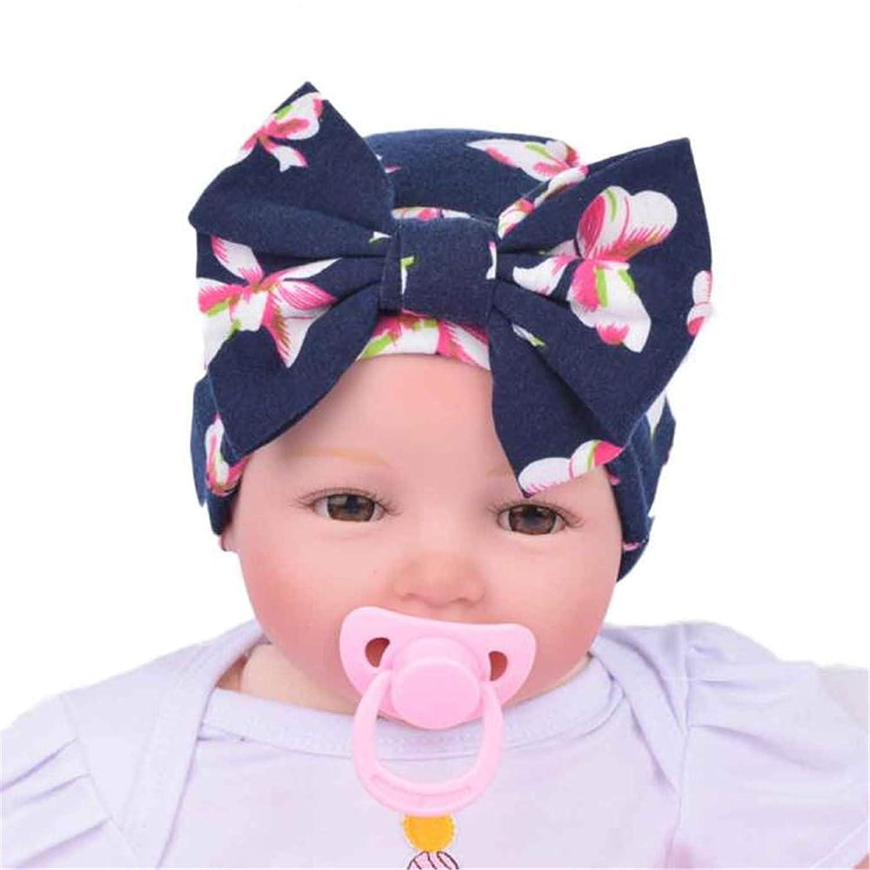 Londony Newborn Baby Girl Nursery Beanie Hospital Hat Cute Big Bowknot Cute
