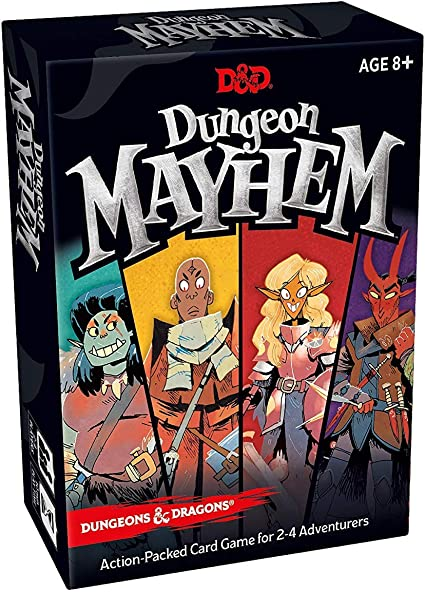 Amazon Com Dungeon Mayhem Dungeons Dragons Card Game 2 4 Players 120 Cards Toys Games
