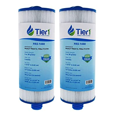 Tier1 Saratoga Spa Circulation Pump Pleatco PSG27.5 Comparable Replacement Filter Cartridge (2-Pack): Kitchen & Dining