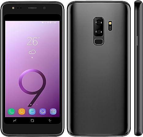 Móviles y Smartphones Libres,4.5 Pantalla Android GO Teléfono Móvil Libre,MTK6572, Dual SIM 1GB RAM+8GB ROM, Dual 5.0MP Cámaras (S9-Black): Amazon.es: Electrónica