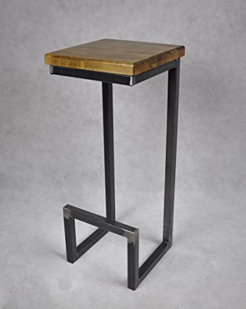 Magnetic Mobel® Barhocker Stahl Holz Massiv C Style Barstuhl Industrial  Design Metall Hocker H