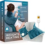 Weighted Heating Pad for Neck and Shoulders, Comfytemp 2.2lb Large Electric Heated Neck Shoulder Wrap for Pain Relief - 9 Hea