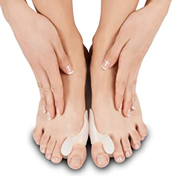 Silicone Bunion Corrector by Soles - Bunion Pad & Toe Spacer - Comfortable Soft Gel Toe