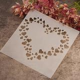 Gemini_mall® Fashion Painting Template Stencil Scrapbooking Album Cake Coffee DIY Art Decor (Love Hearts)