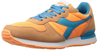 Diadora Men's Camaro Skate Shoe, Orange FluorescentCyan