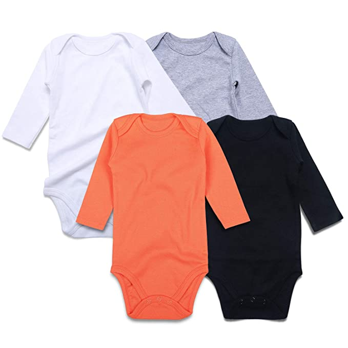 1f4a902fa4 Amazon.com  SOBOWO Unisex-Baby Solid Cotton Bodysuits
