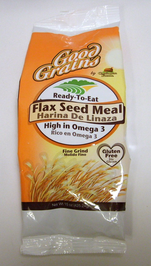 Good Grains Ready-to-eat Flax Seed Meal 15 Oz. Bag (425.24g) Gluten Free High in Omega 3 (1 Bag)