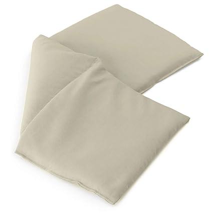 Almohada térmica compartimentado en 3 con semillas de lino ...