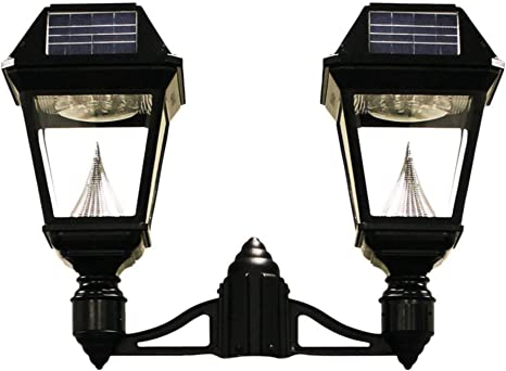 Gama Sonic Imperial Ii Solar Light 2 Head Lamp 3 Post Fitter Mount Black Gs 97nf2 Amazon Com