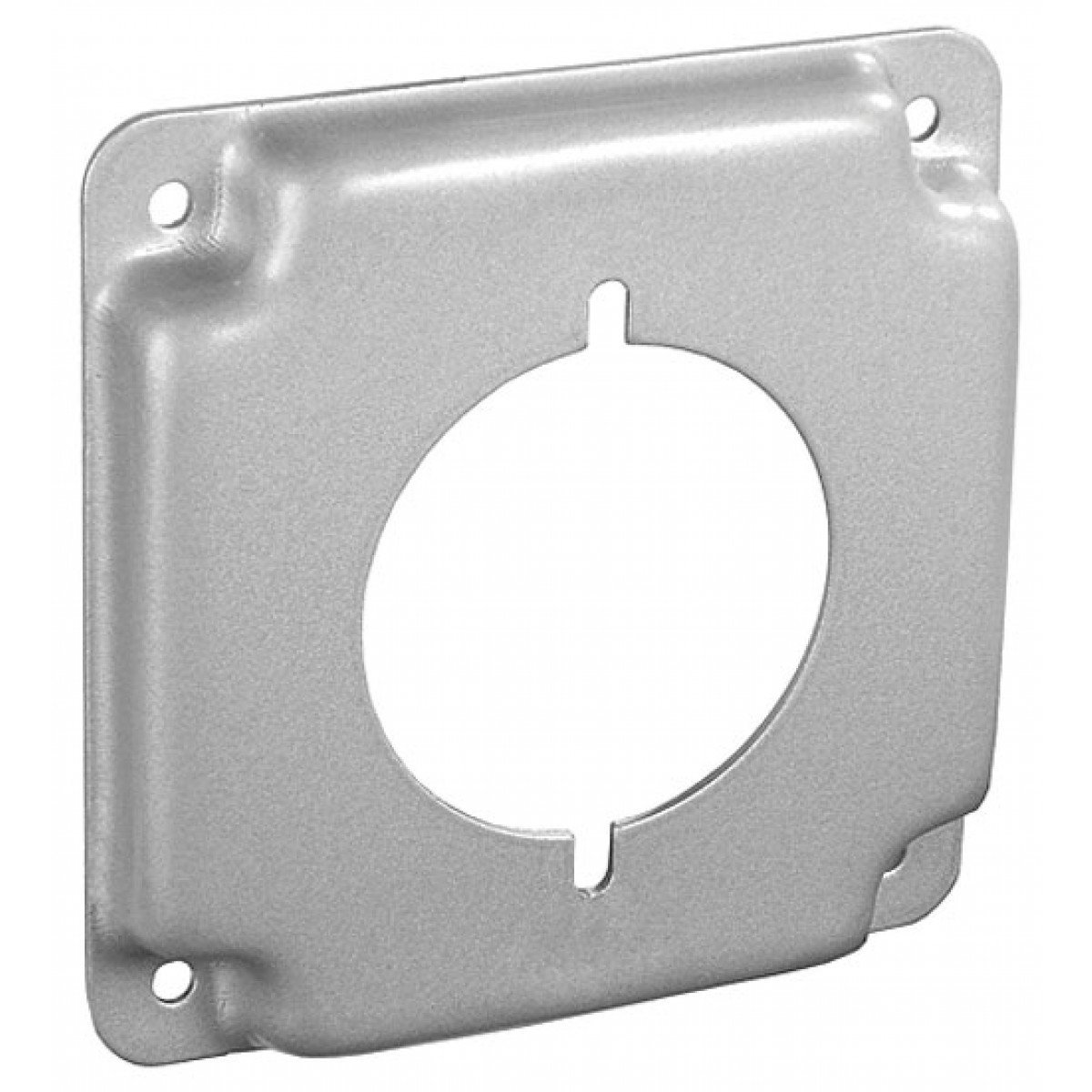 2 Pcs, Steel 4 Square, 1/2 In. Raised 30-50 Amp Receptacle, 2.141 In. Industrial Surface Cover for Quick Installation of Devices & Switches