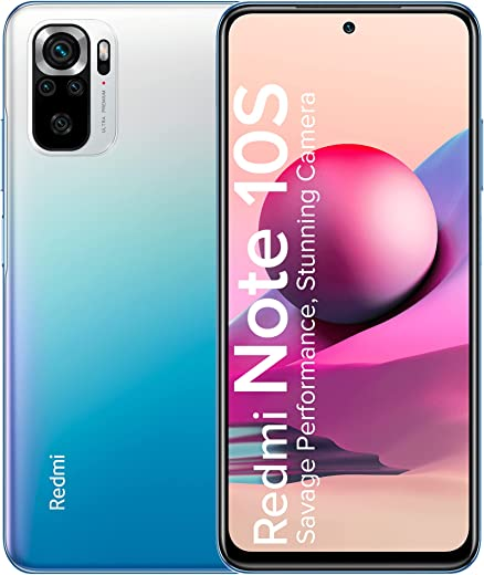 Redmi Note 10S (Deep Sea Blue, 6GB RAM, 64GB Storage) -Super Amoled Display | 64 MP Quad Camera | 6 Month Free Screen Replacement (Prime only)|Extra INR 1000 Off Through Coupons