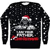 Vanilla Inc® I AM Your Father Christmas Ladies & Mens Season Star Wars Darth Vader Santa Novelty Vintage Retro Xmas Knitted Jumper Sweater TOP S-XL