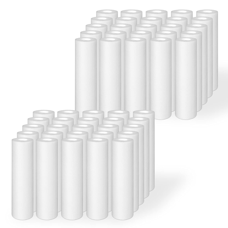 20 Micron Ronaqua 50 Pack of Melt-blown Four Layers Filtration Polypropylene Sediment Filters 10x 2.5