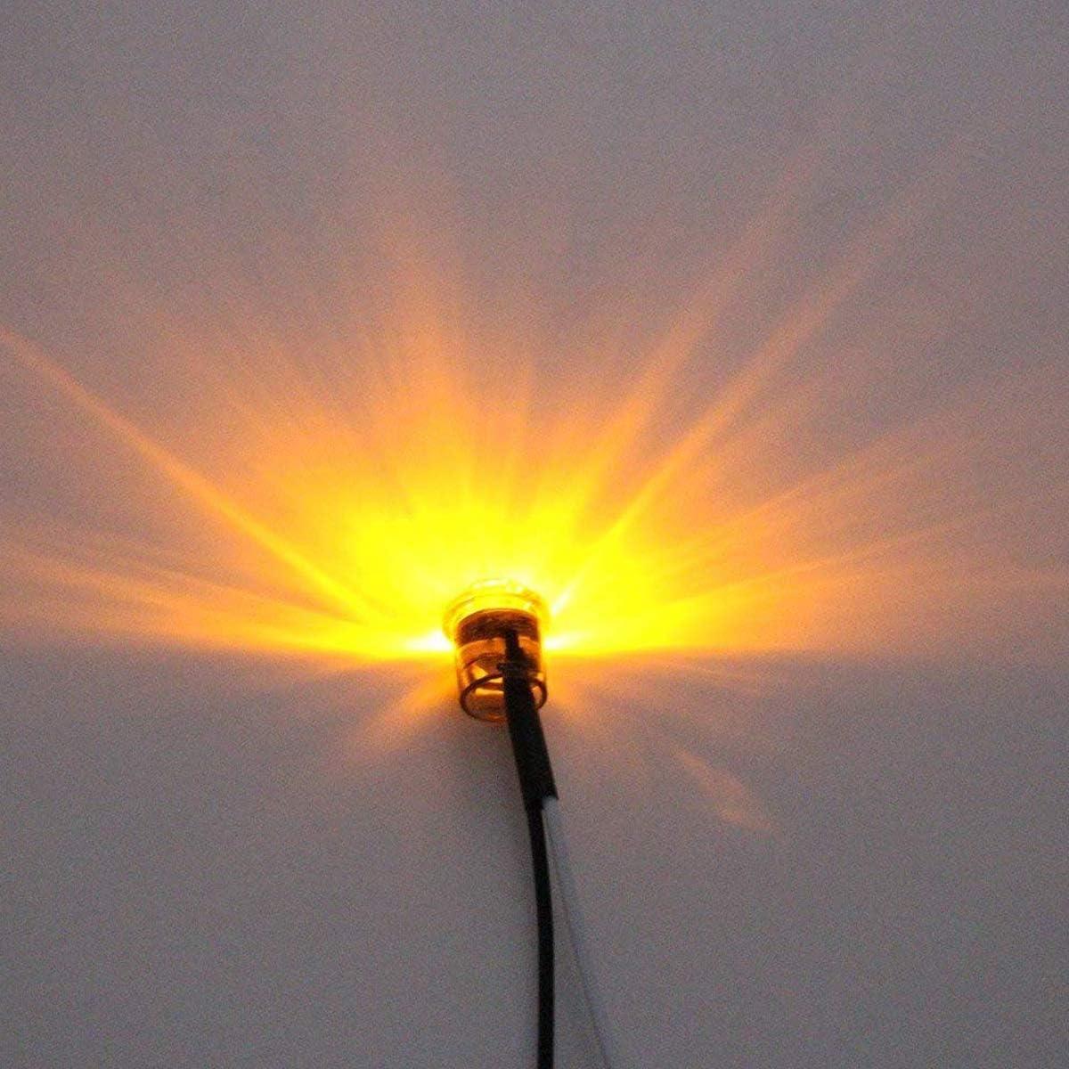 GOFORJUMP 10 PCS Remorque Camion LED C/ôt/é Marqueur Clignotants Feux Blanc Arri/ère C/ôt/é Marqueur Lampe Bus De Voiture Lumi/ères Exterieures 12 V
