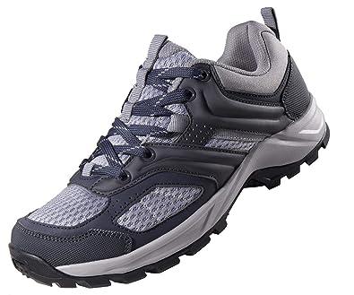 CAMEL CROWN Zapatillas de Senderismo para Mujer Antideslizantes Zapatillas de Trekking Montaña Transpirables Zapatillas de Seguridad Zapatos de Trabajo AL ...