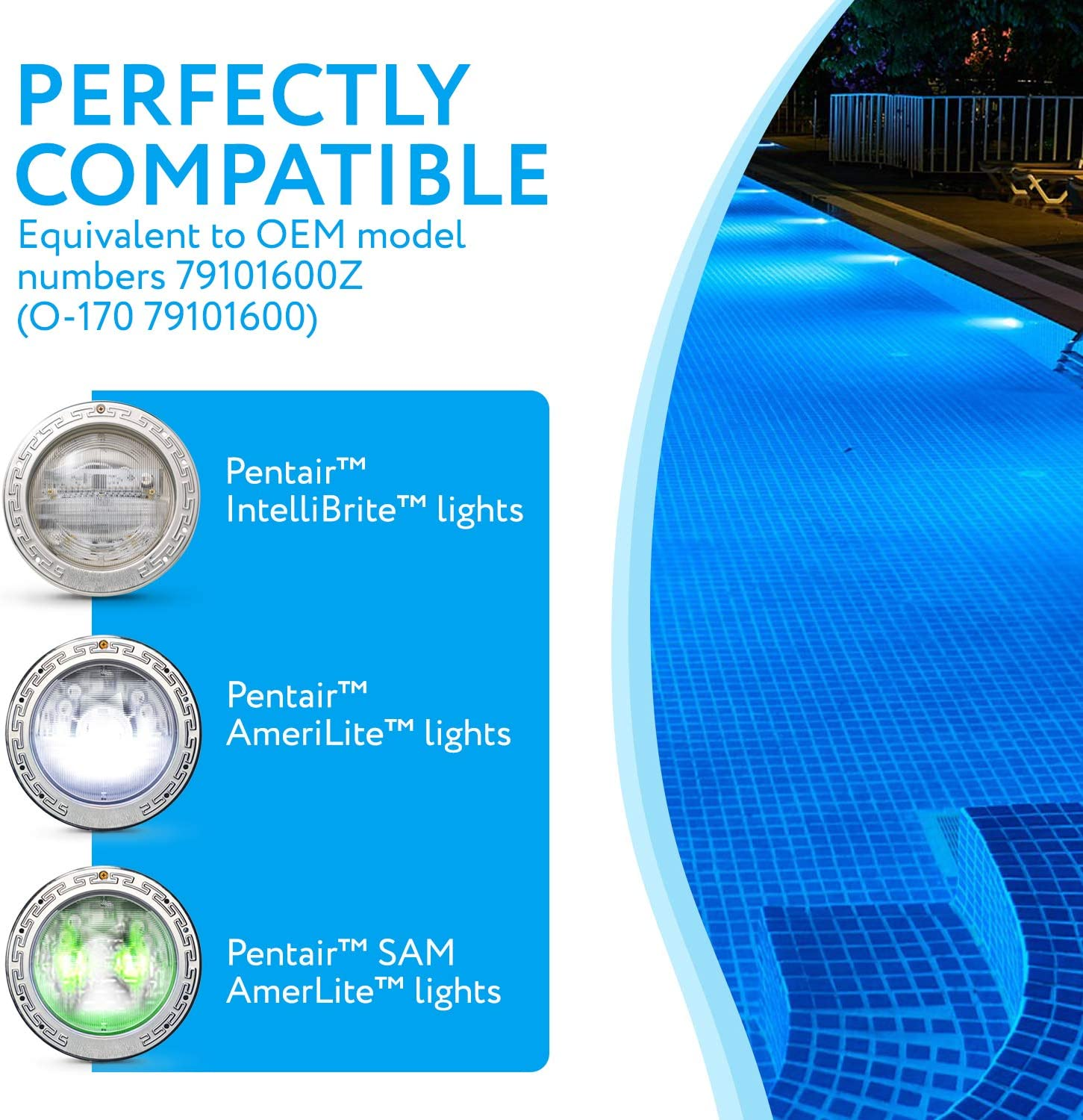 """Impresa Products 2-Pack Pentair-Compatible Light Lens Gasket - 8 3/8"""" - Equivalent to 79101600Z - Works with IntelliBrite Lights, AmeriLite Lights and SAm AmerLite Lights in Pools and Spas: Home & Kitchen"""