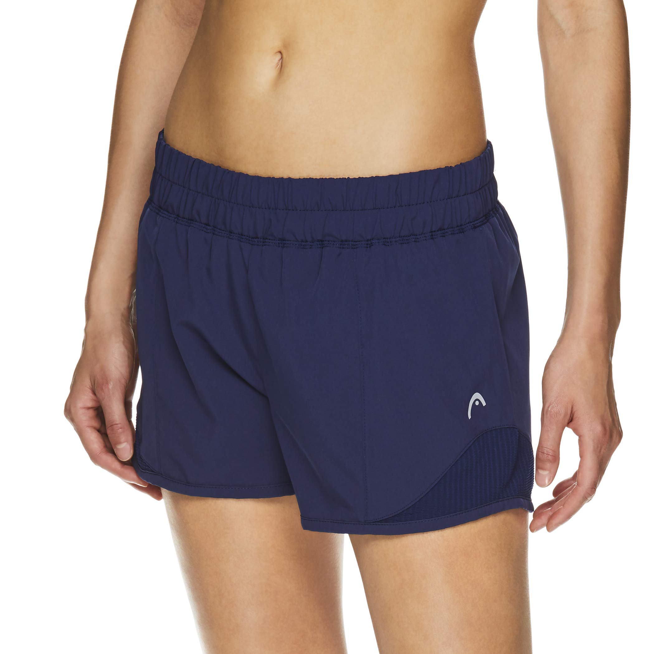 HEAD Women's Athletic Workout Shorts - Polyester Gym Training & Running Short - Partner Medieval Blue, X-Small