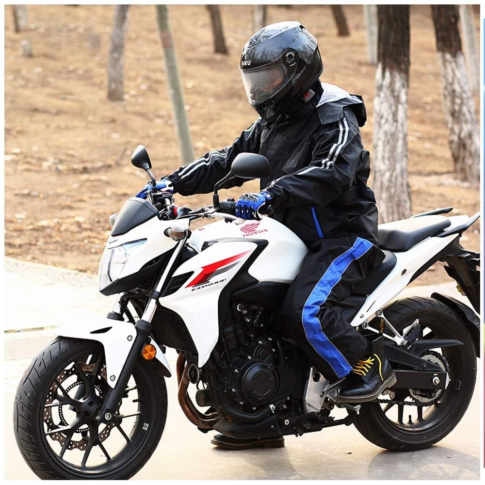bleu L Guyuan Pantalon de Pluie Moto Hors Route Costume de Split Costume Voiture électrique équitation Adultes Hommes et Femmes Moto imperméable Ensemble (Couleur   rose, Taille   L)